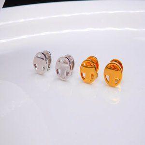 Tory Burch Round Single T-Logo Earrings